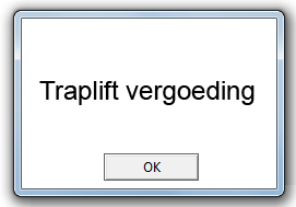 Traplift-vergoeding